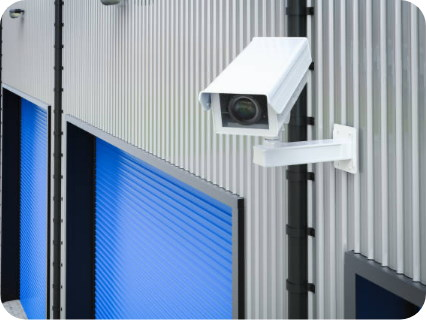 CCTV camera for secure destruction of scrap metal