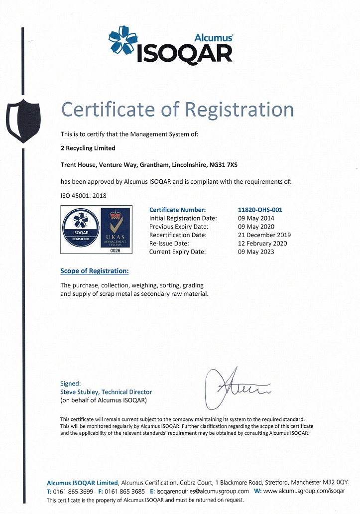 ISO 45001 2015 Feb 2020
