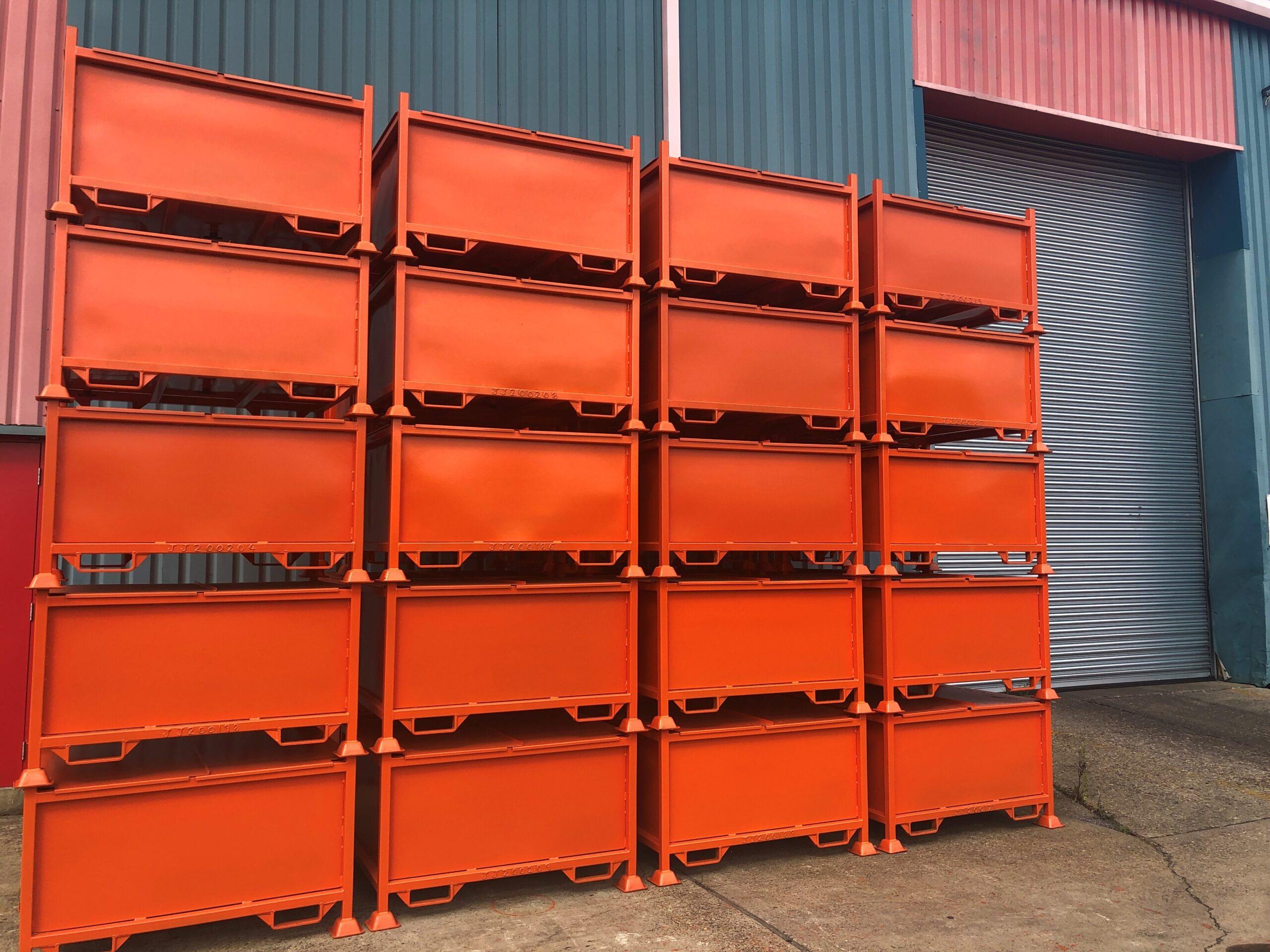 New Sealed Metal bins