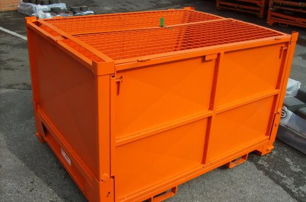 TYPE B Lockable metal recycling bin