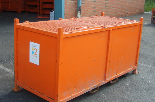 TYPE P - Large metal storage containers for swarf recycling