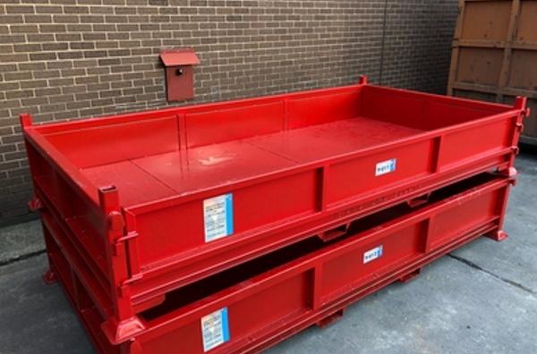 TYPE Y - Large low to ground scrap metal bin