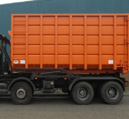 Roll on-off large metal storage containers