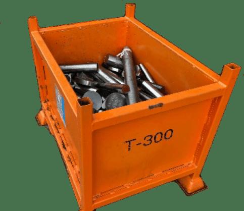 Scrap bins and metal skips banner image of t-300