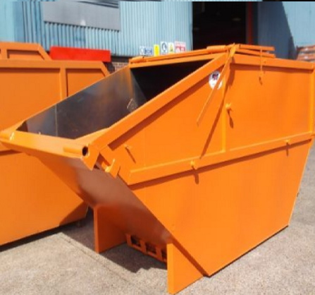 Lockable skip photo showing types of lockable skips