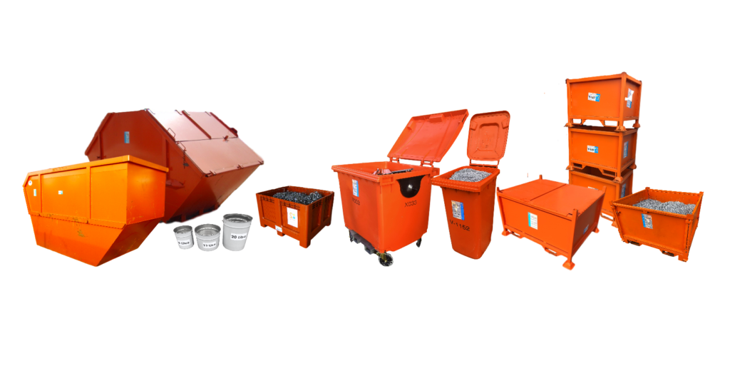 Selection of Metal Recycling Containers