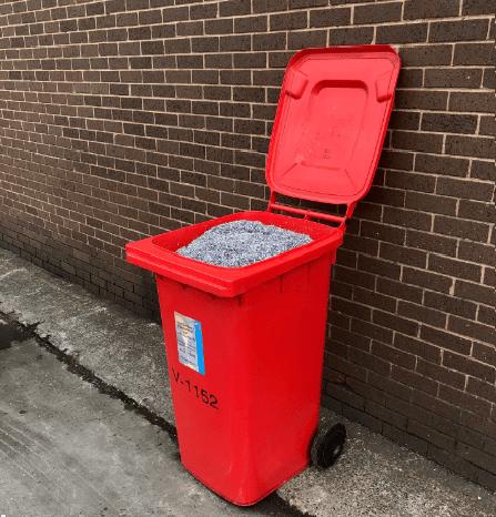 Plastic wheelie bins for scrap metal collection
