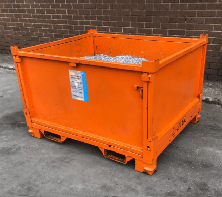 Photo of scrap metal bins for forklift