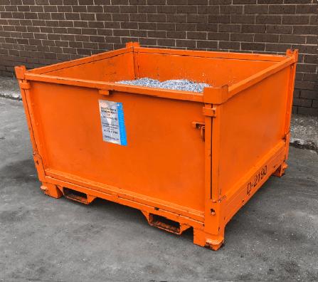 Photo of scrap metal bins for forklift